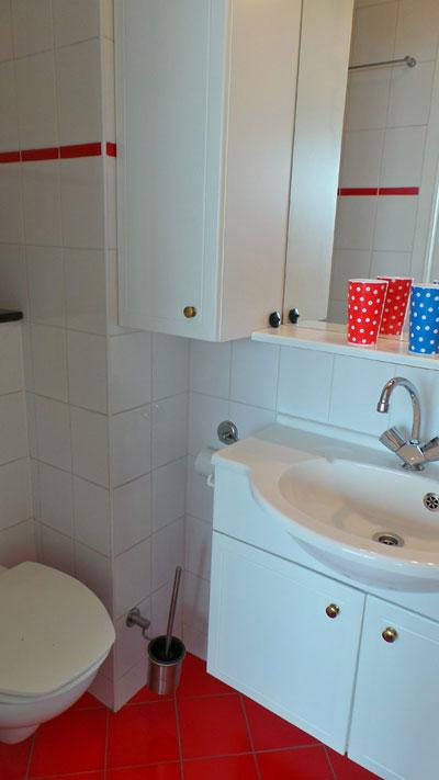 douche/toilet in kamer B&B Seahorse